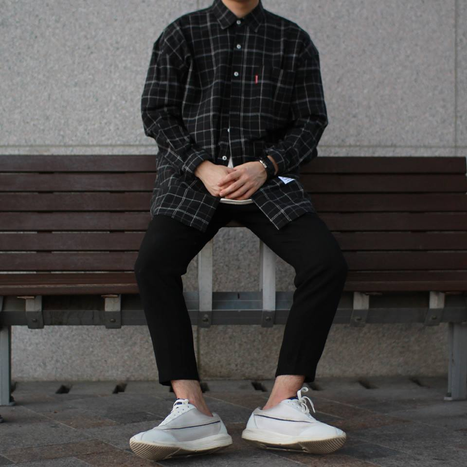 Avant-fit Texture Check Shirts