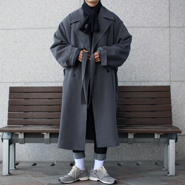 Over-fit HUKE Chacoal Coat (봄,가을 원단)