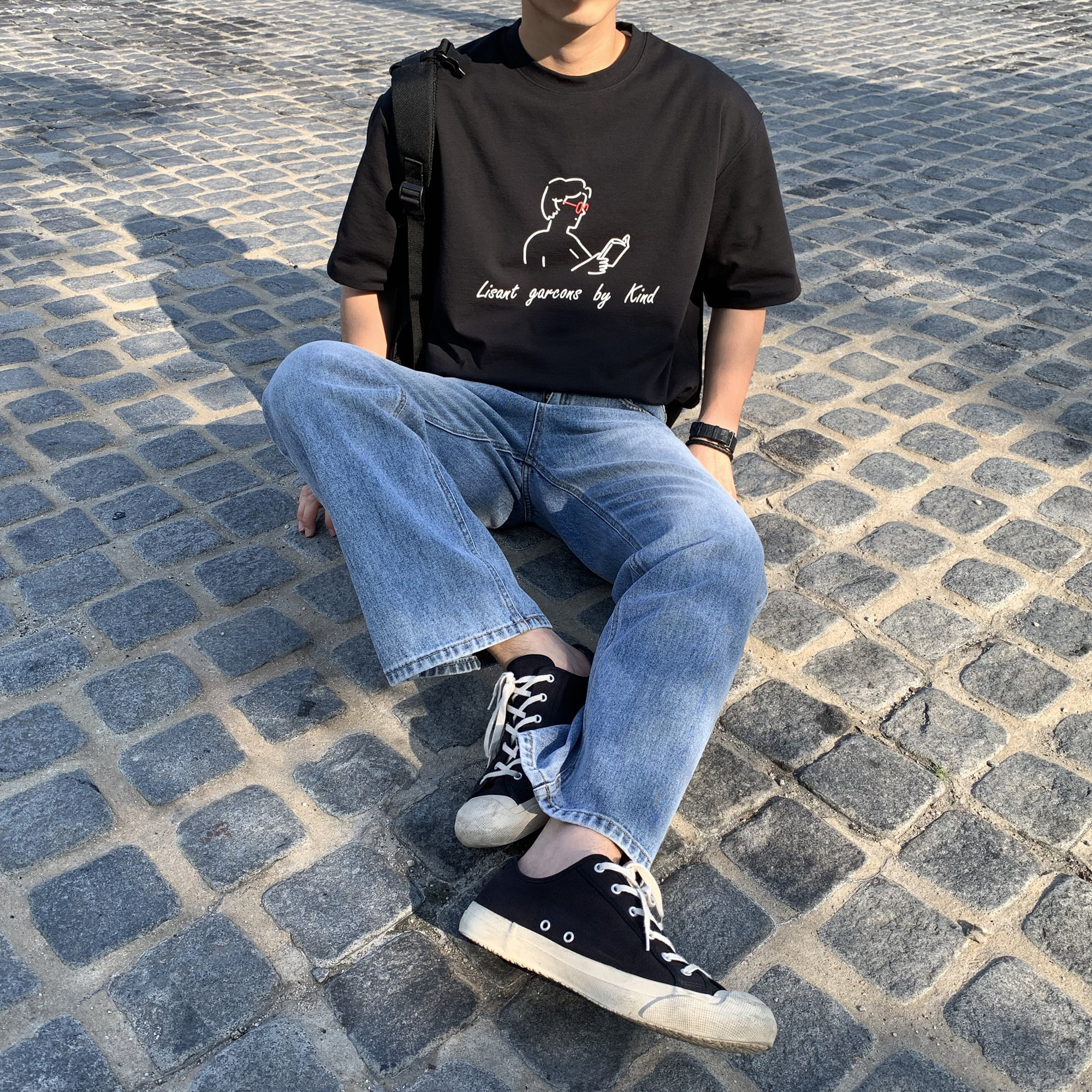 Over-fit ND Black 1/2 Tee