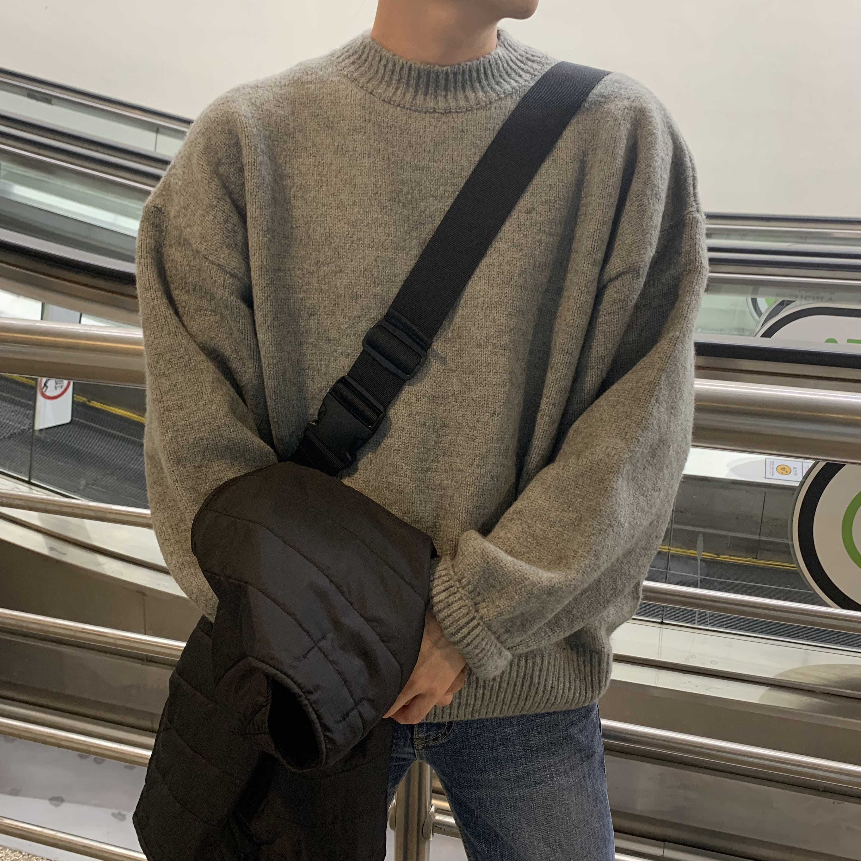 Over-fit SINE Grey Knit