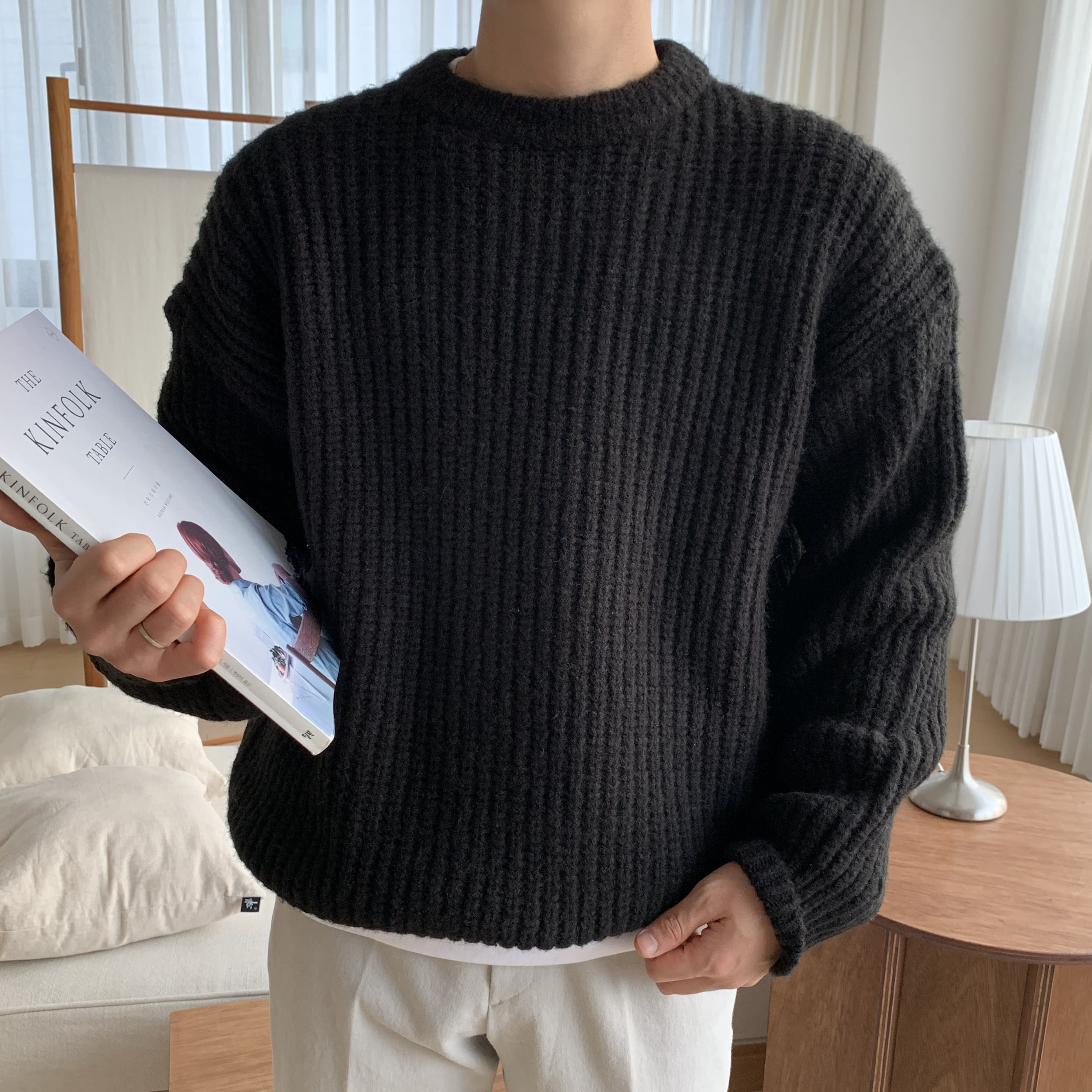 Over-fit CLUE Knit (Black)