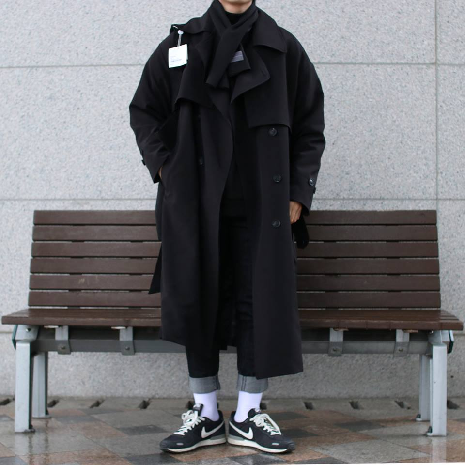 Over-fit NINE Black Coat(봄,가을원단)