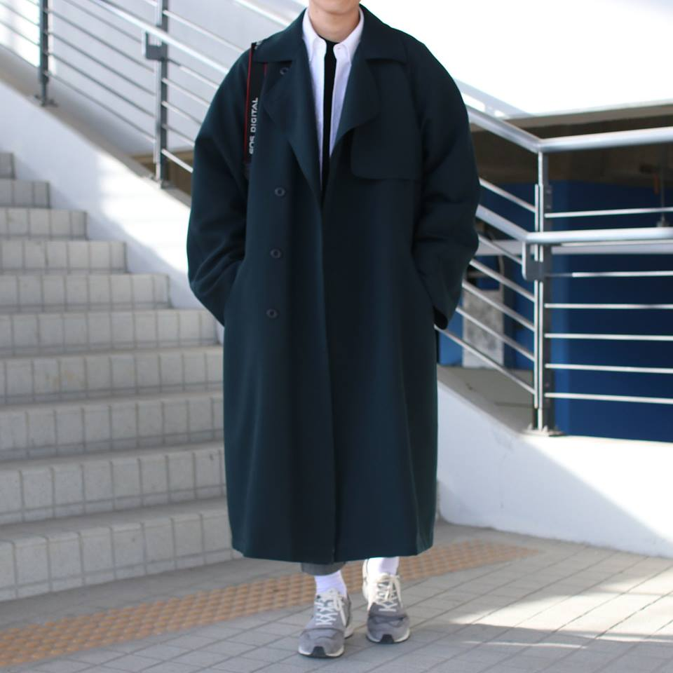 Over-fit PNT Green Coat(봄,가을원단)