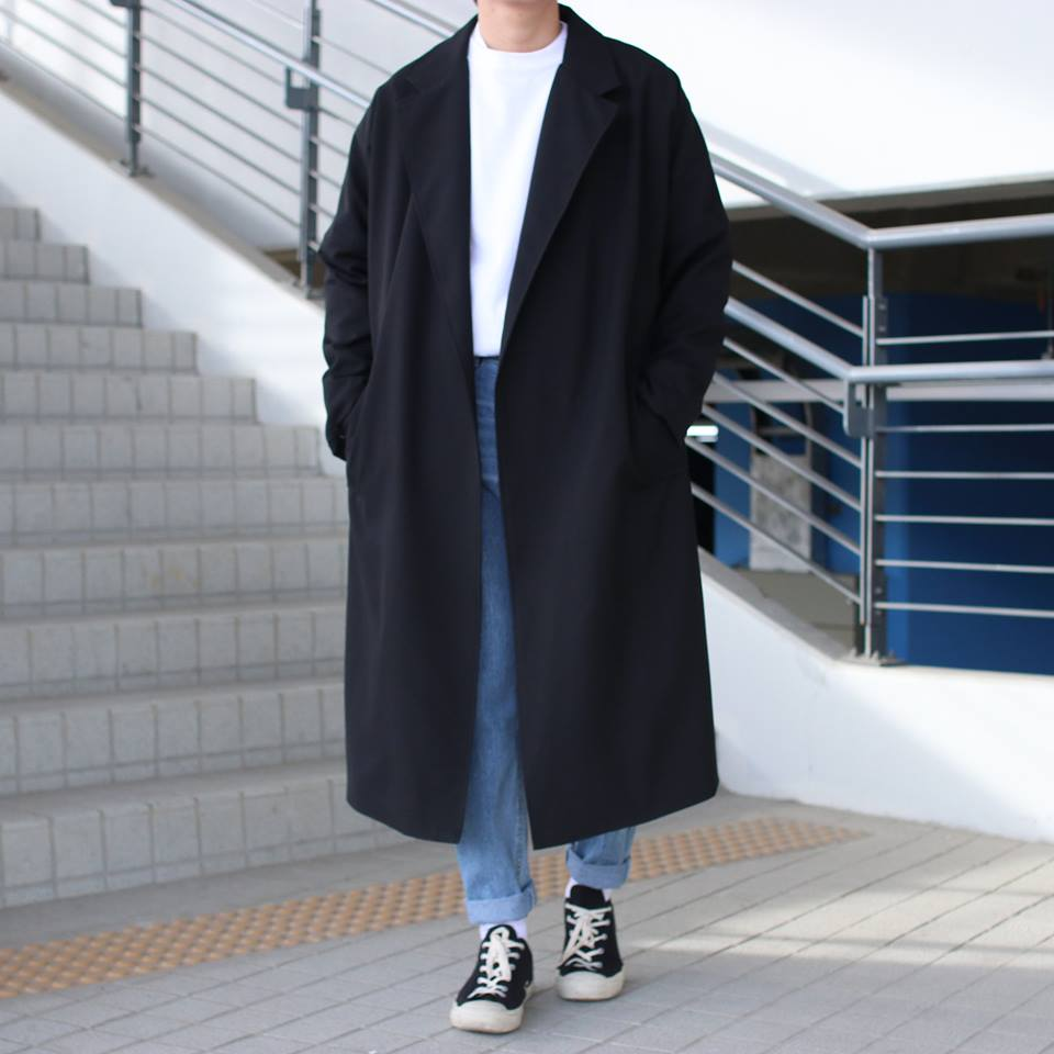 Over-fit MNT Black Coat(봄,가을원단)