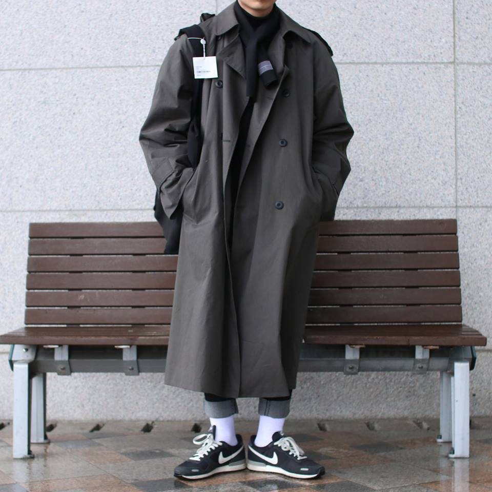 Over-fit CLUE KAKI Coat(봄,가을원단)