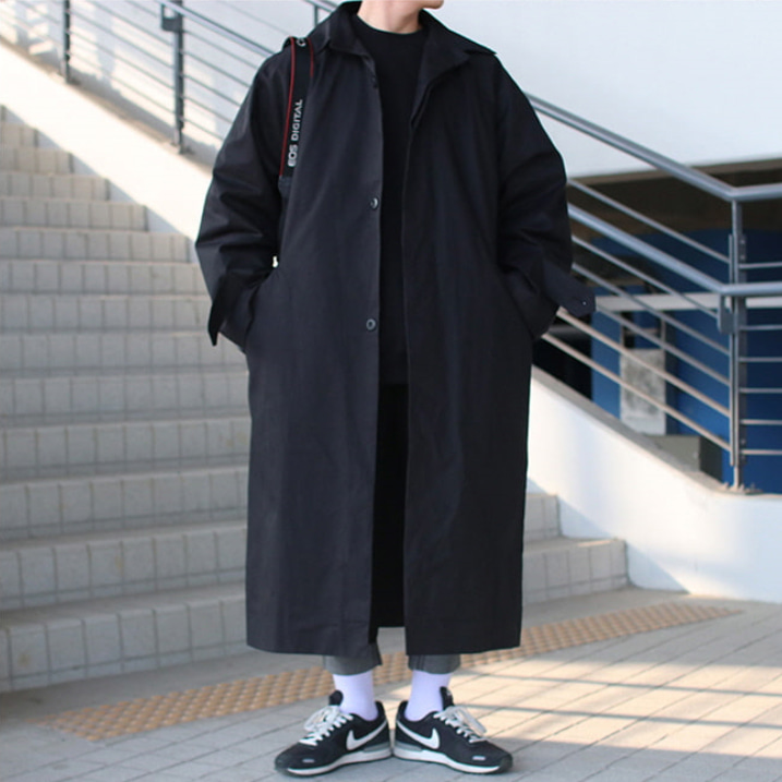 Over-fit ANT MAC Black Coat(봄,가을원단)