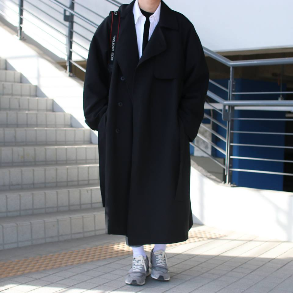 Over-fit PNT Black Coat(봄,가을원단)