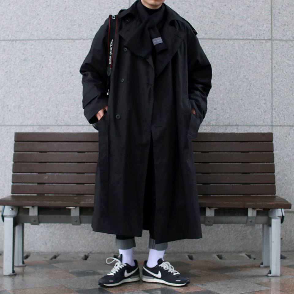 Over-fit CLUE Black Coat(봄,가을원단)