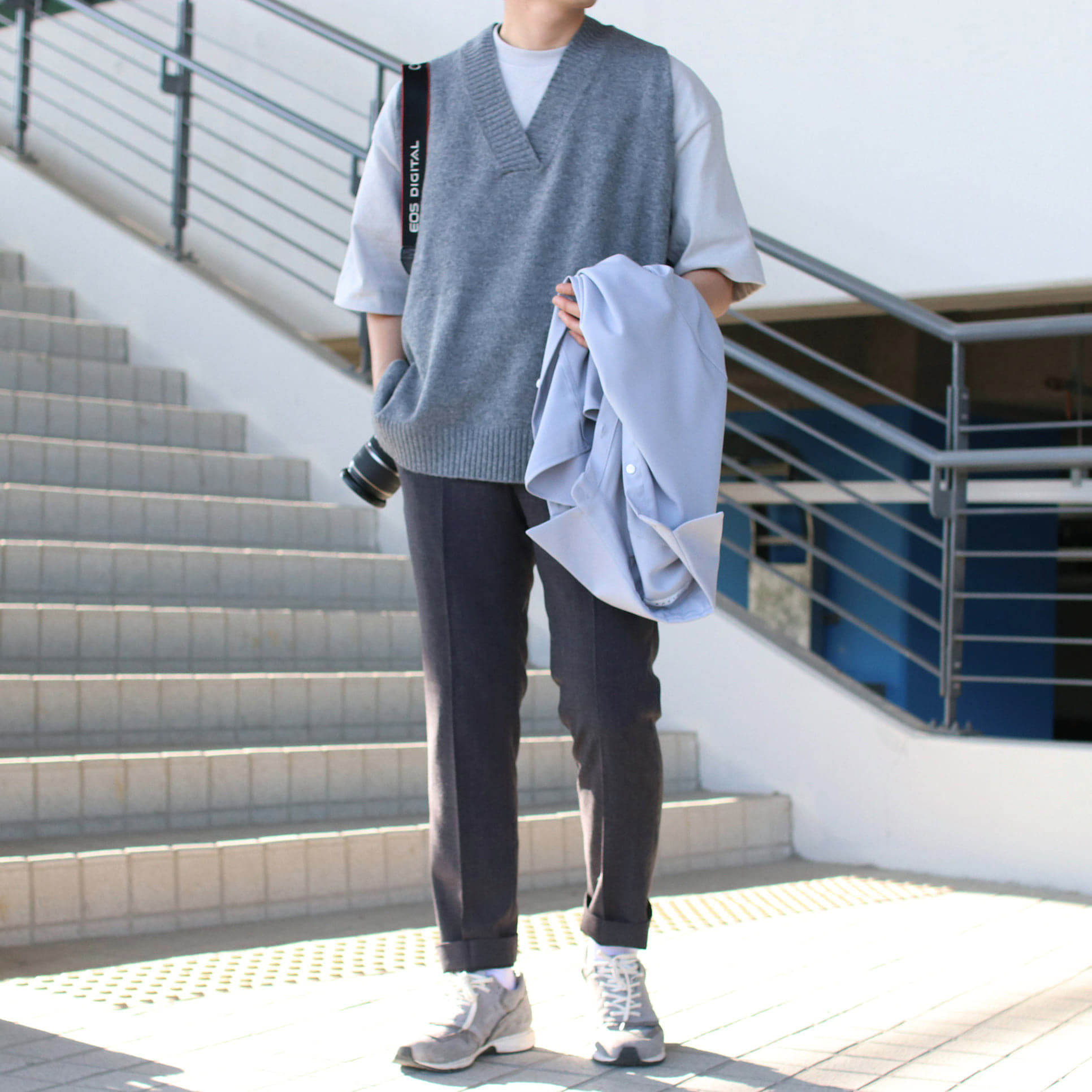Over-fit GREAD Grey 니트조끼