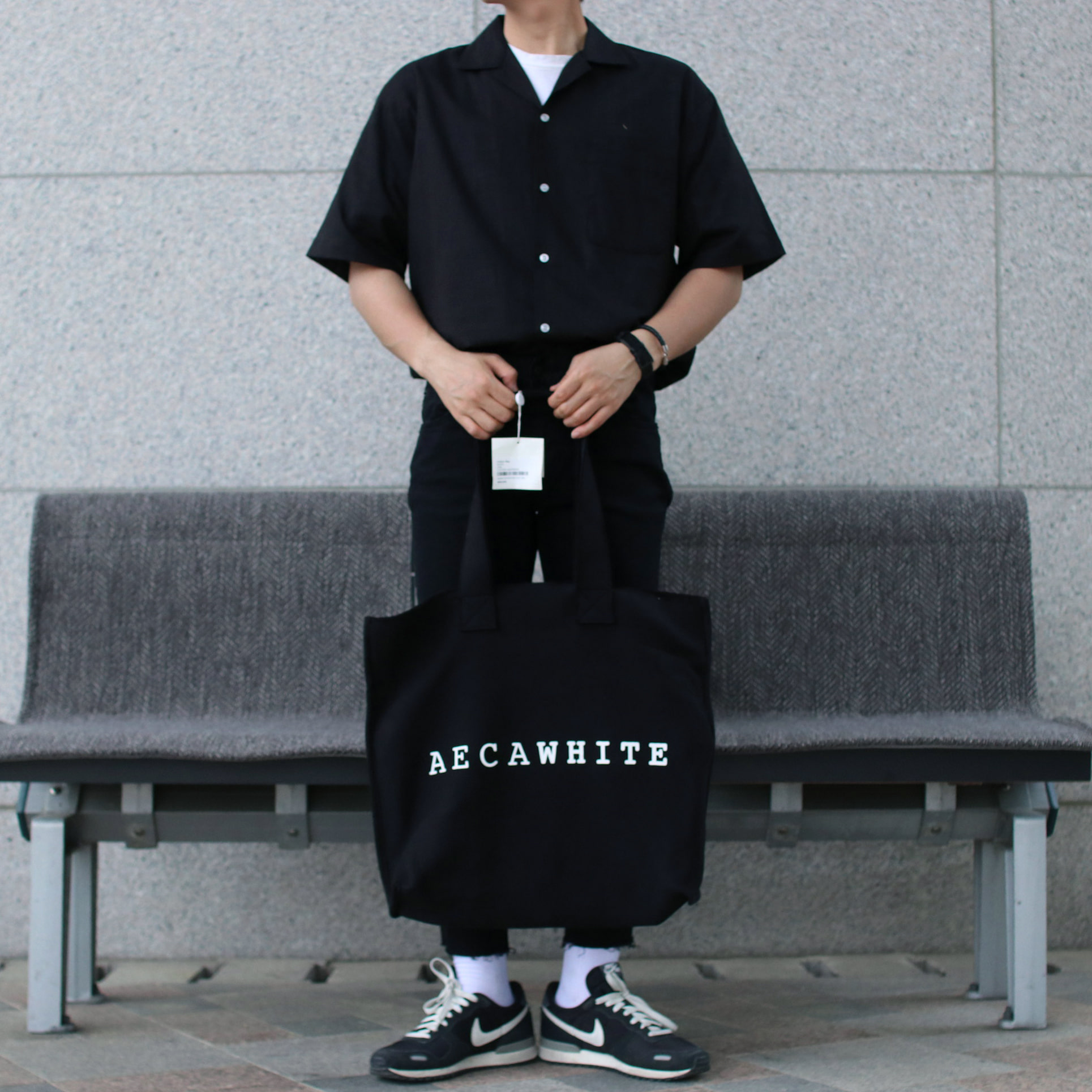 Over-fit Linen Black Shirts