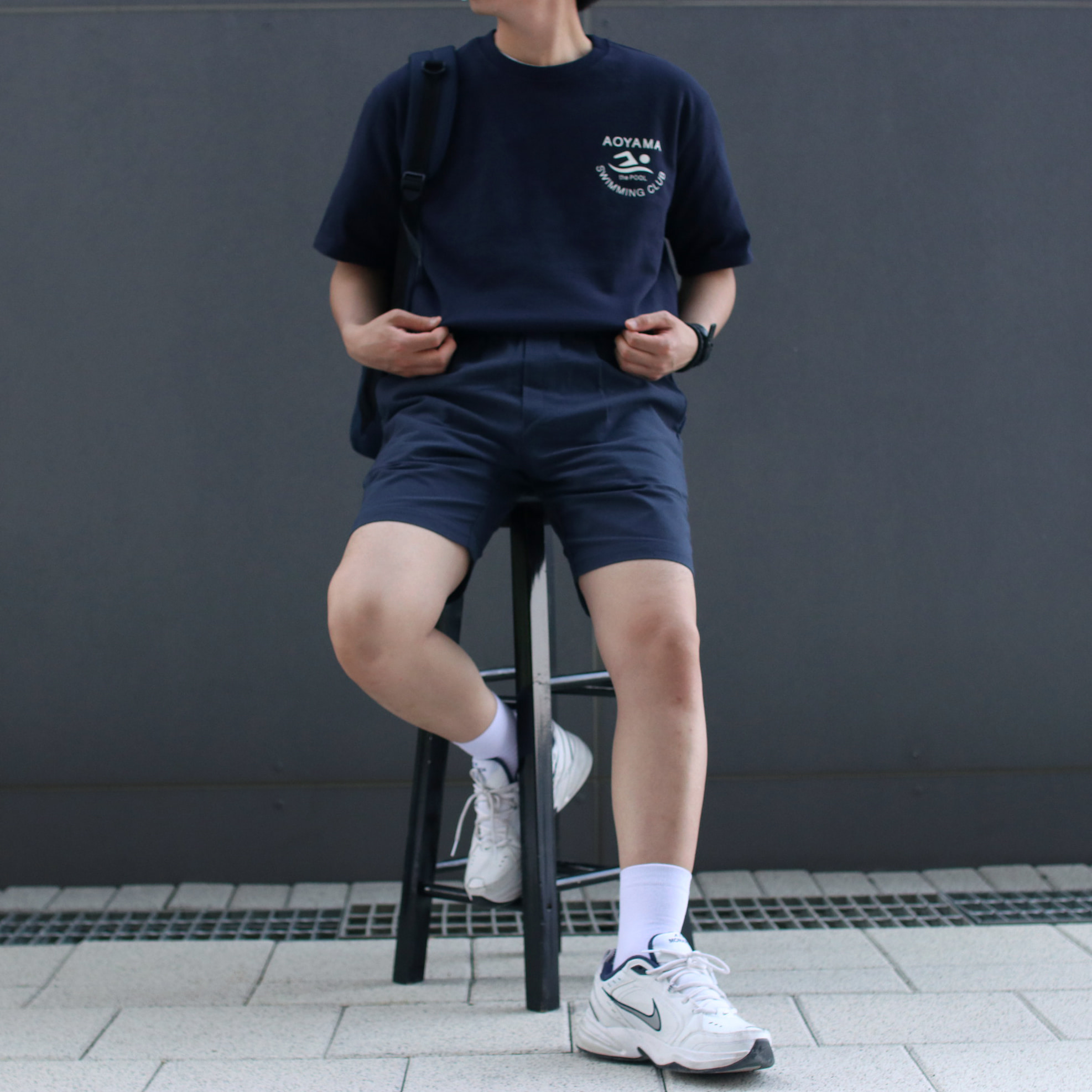 Over-fit NATS Navy 1/2 Tee