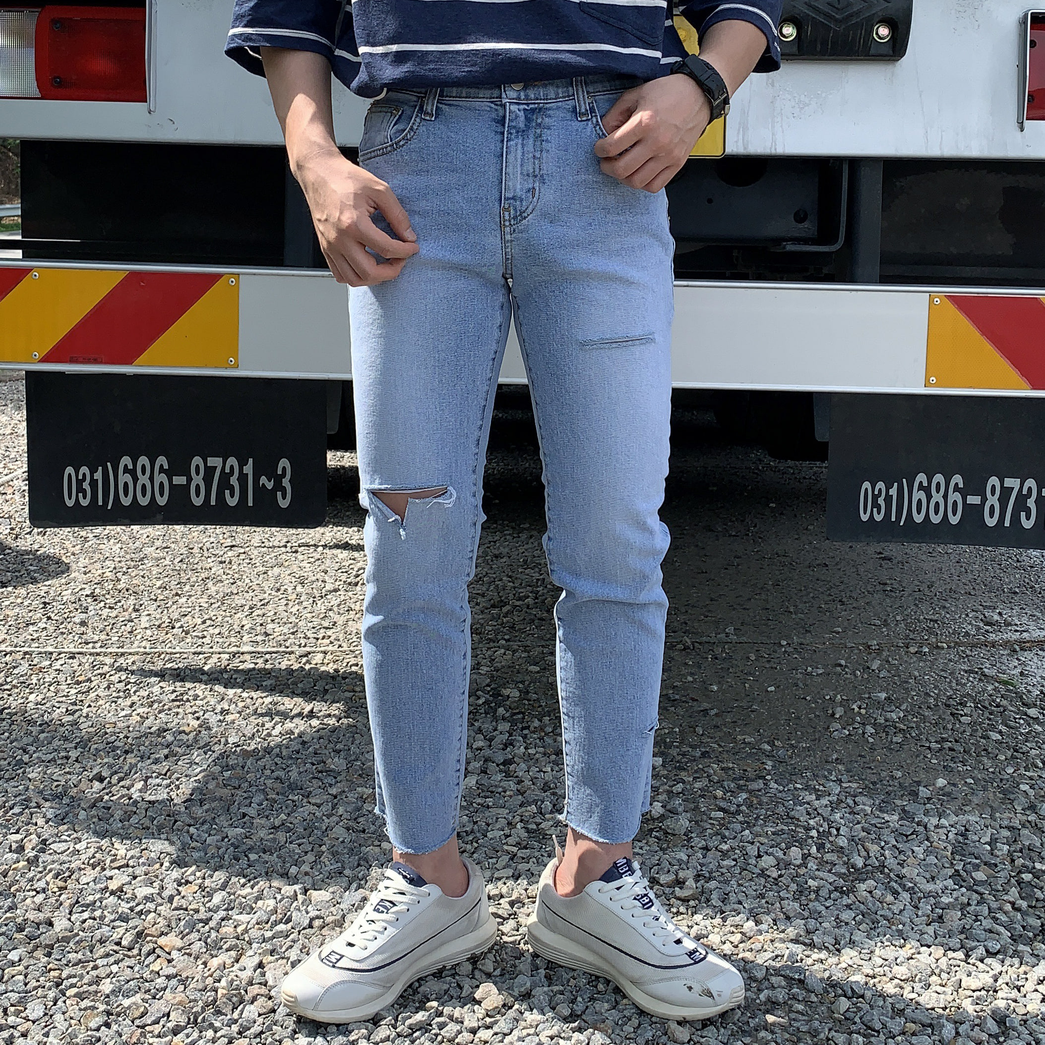 Drop-fit TATE JEANS