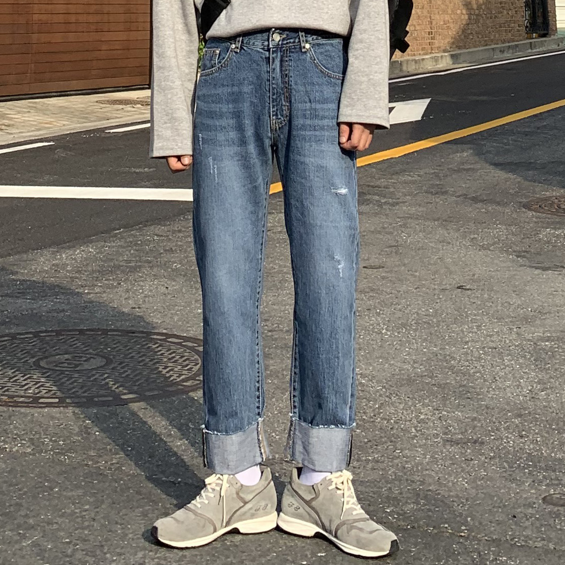Drop-fit NF cutting Jeans (진청)
