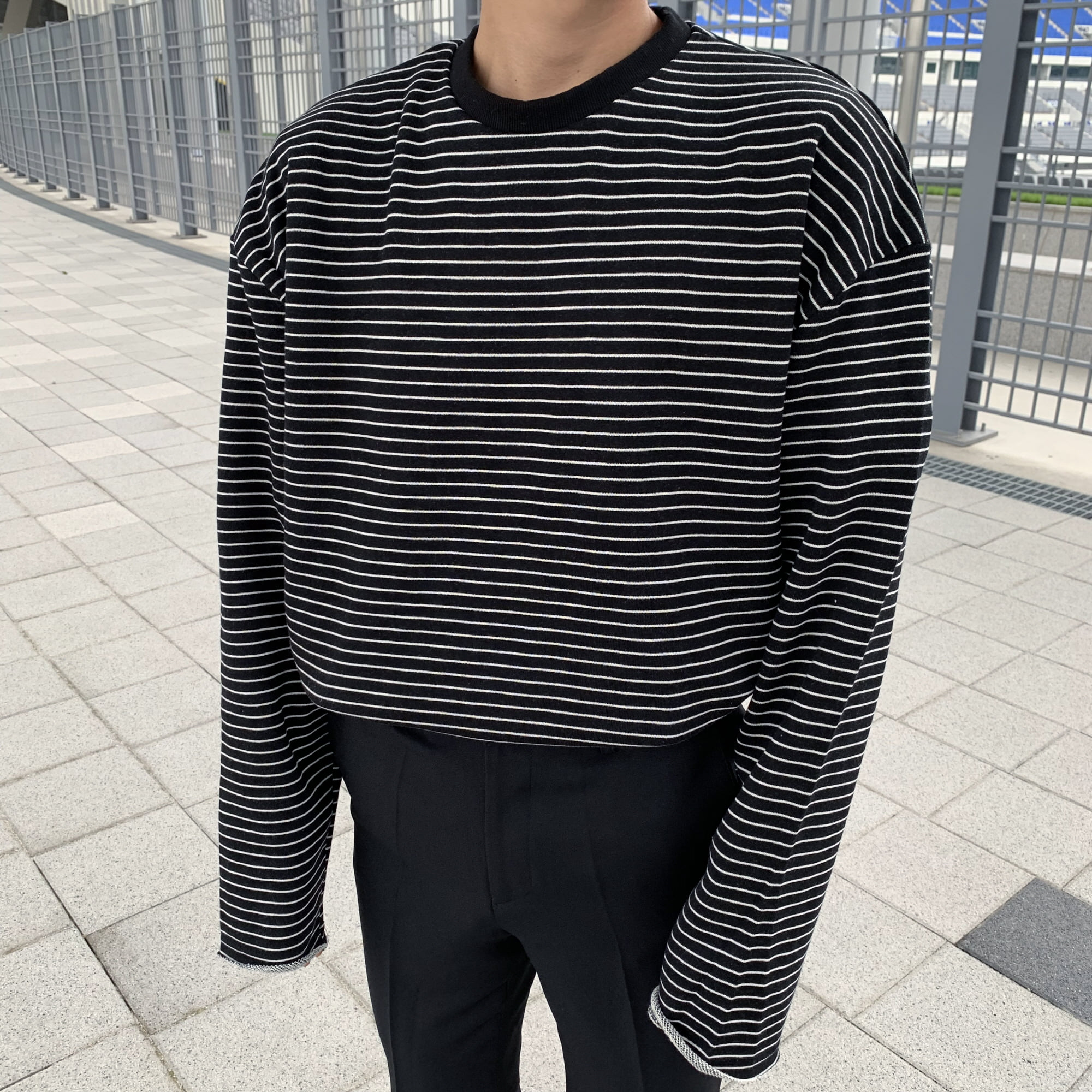 Over-fit NC Stripe Tee