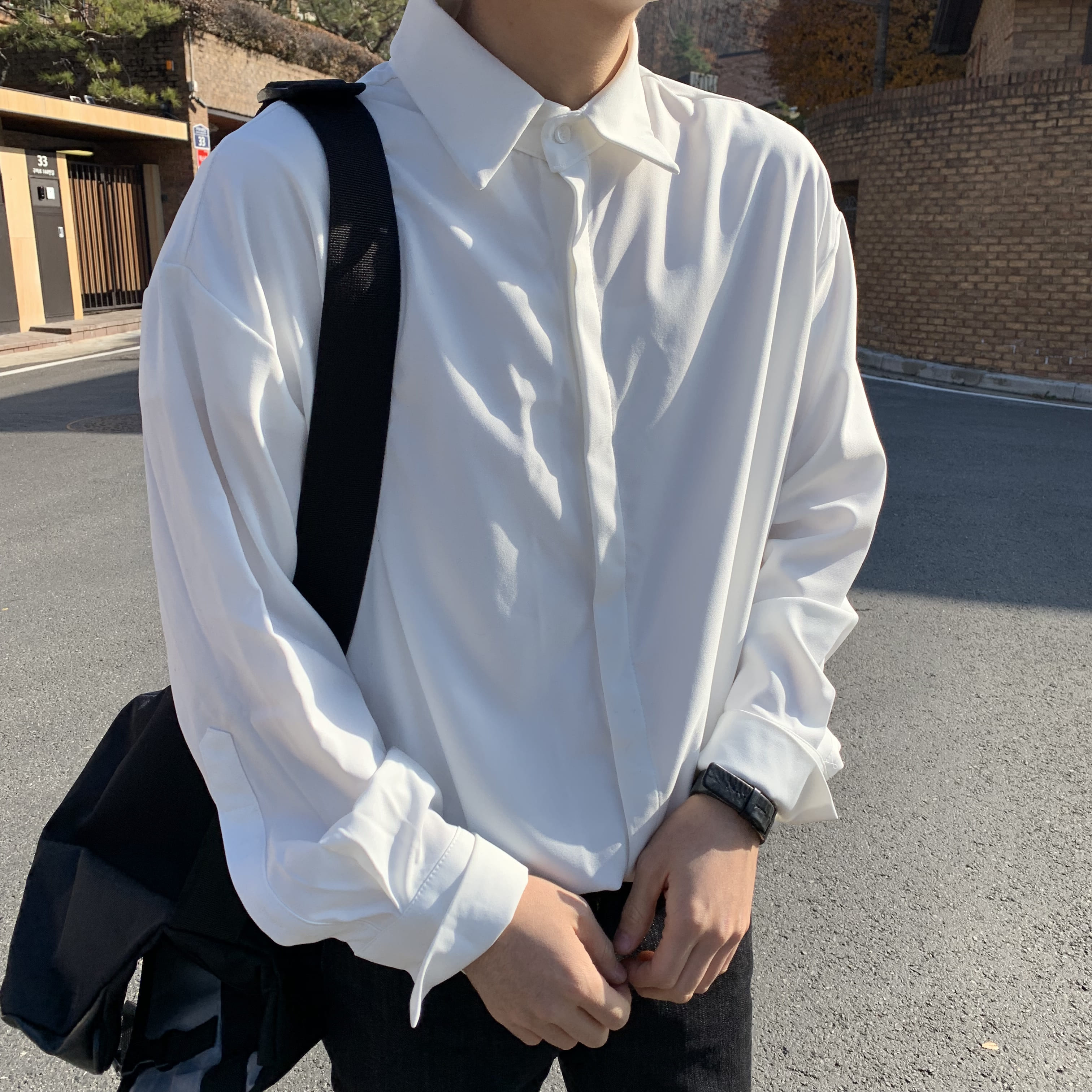 Over-fit White Shirts