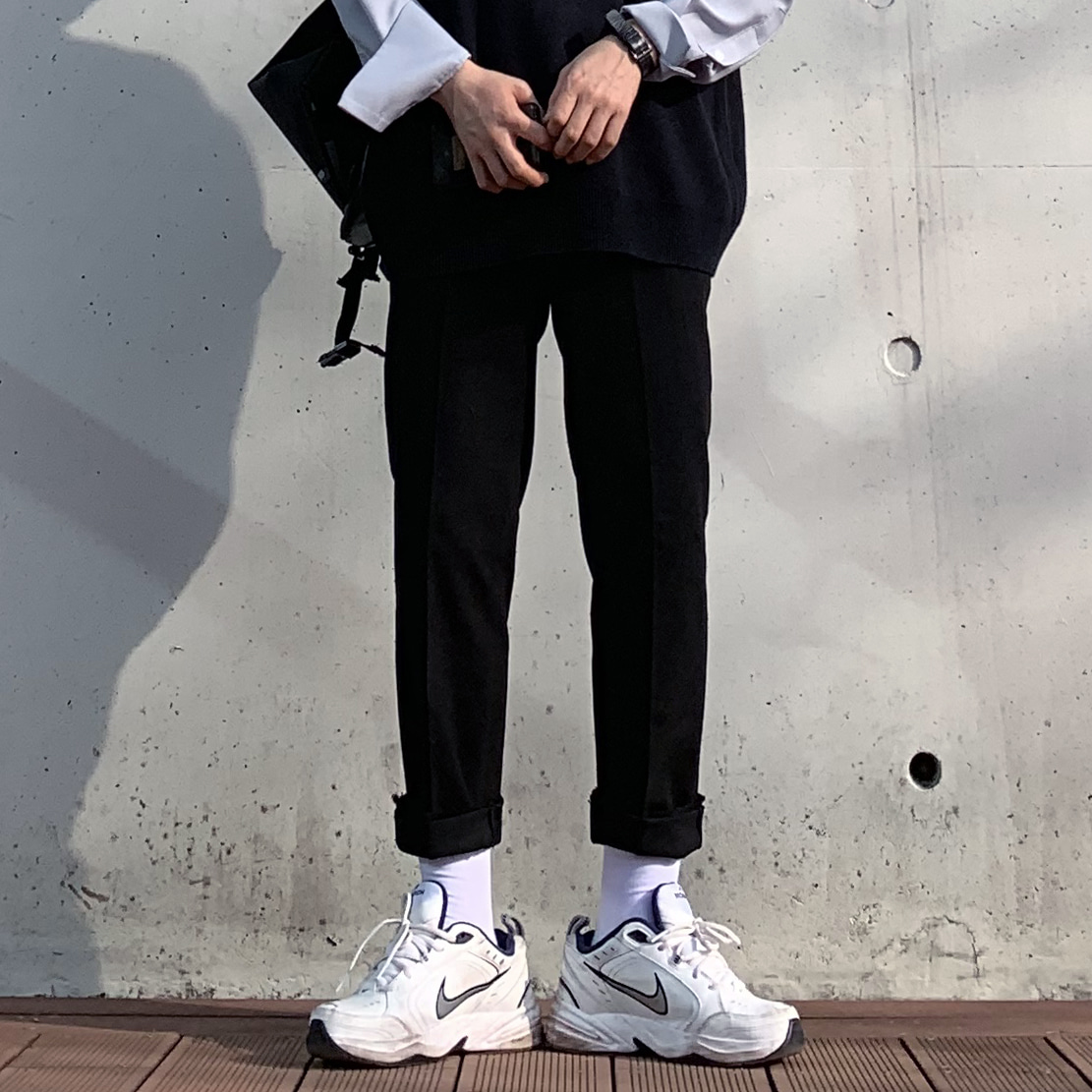 Drop-fit NINE Black Pants