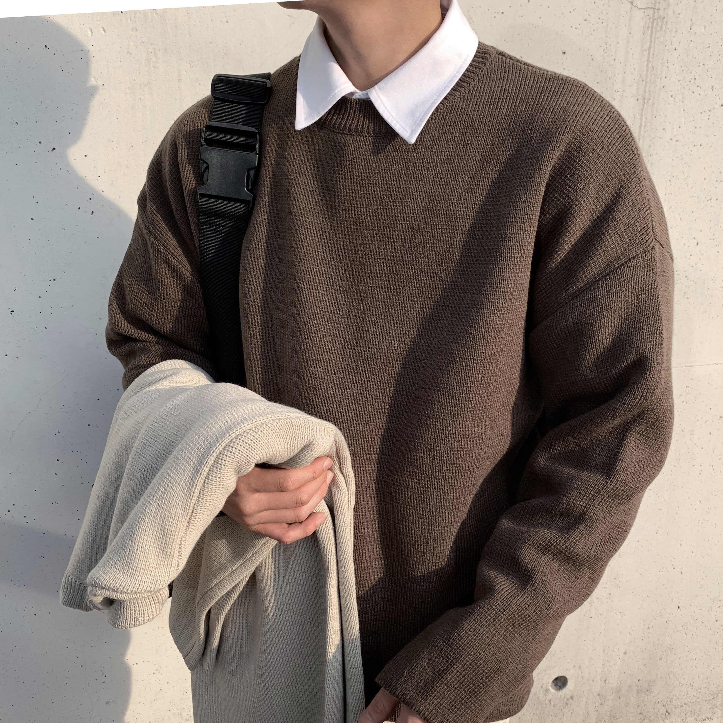 Over-fit ATC Brown Knit