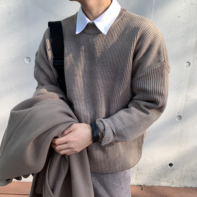 Over-fit NIP Beige Knit