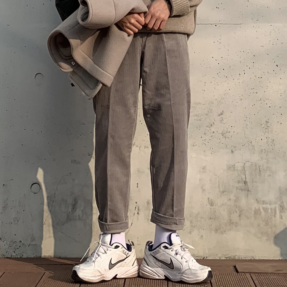 Over-fit HITIC Corduroy Grey Pants