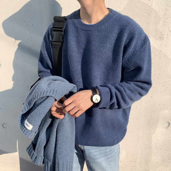 Over-fit PINE Blue Knit