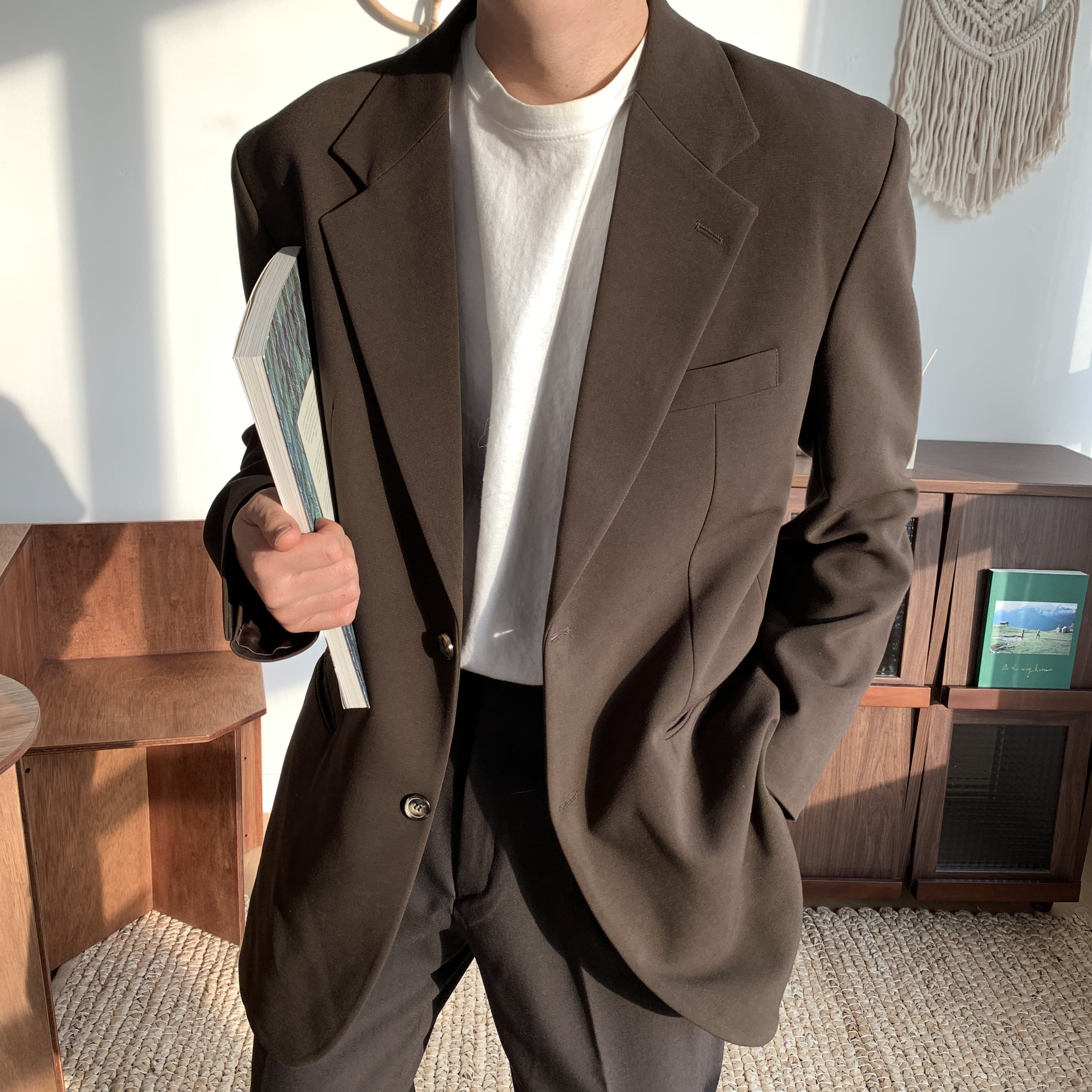 Over-fit Brown Jacket