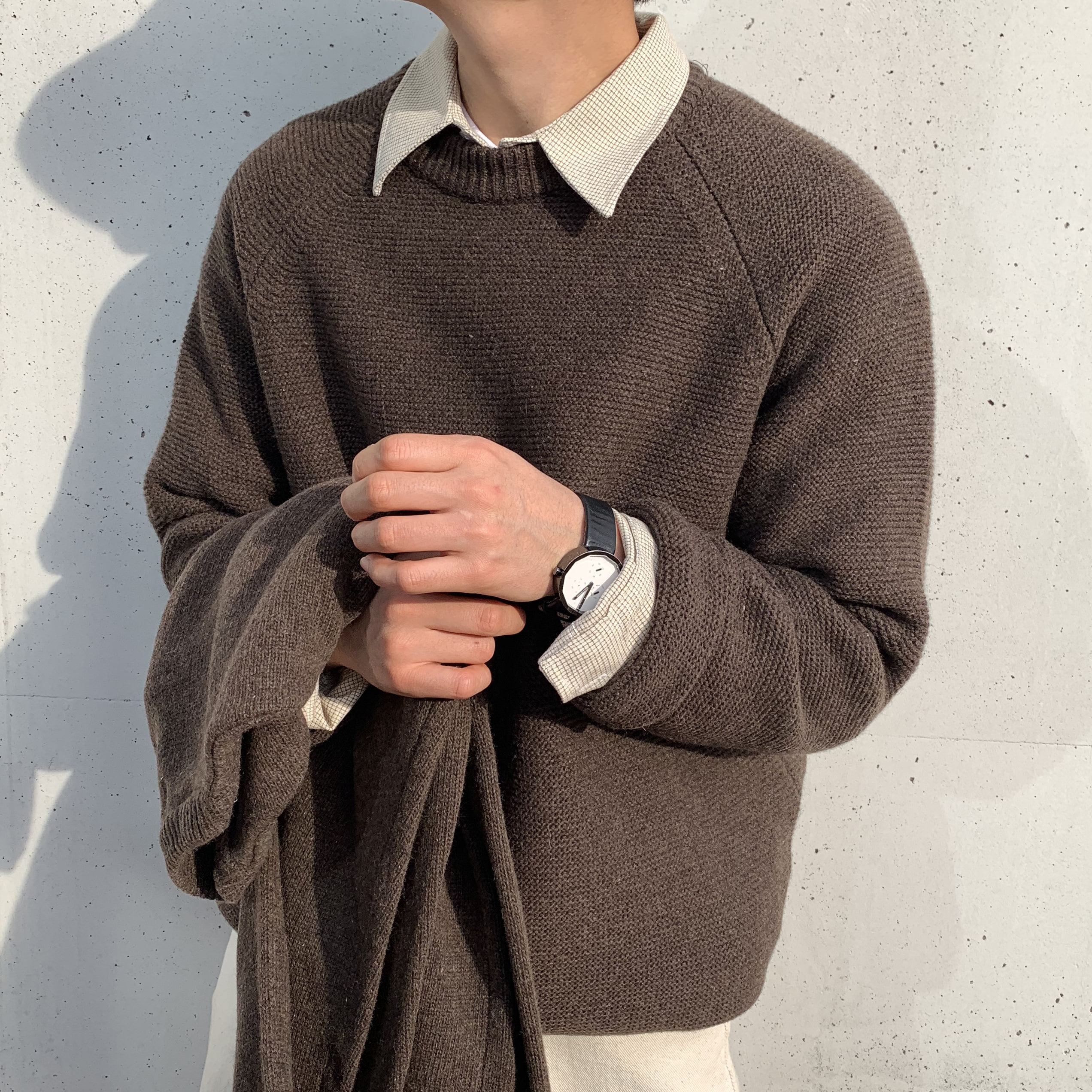 Over-fit ANT Knit (BROWN)