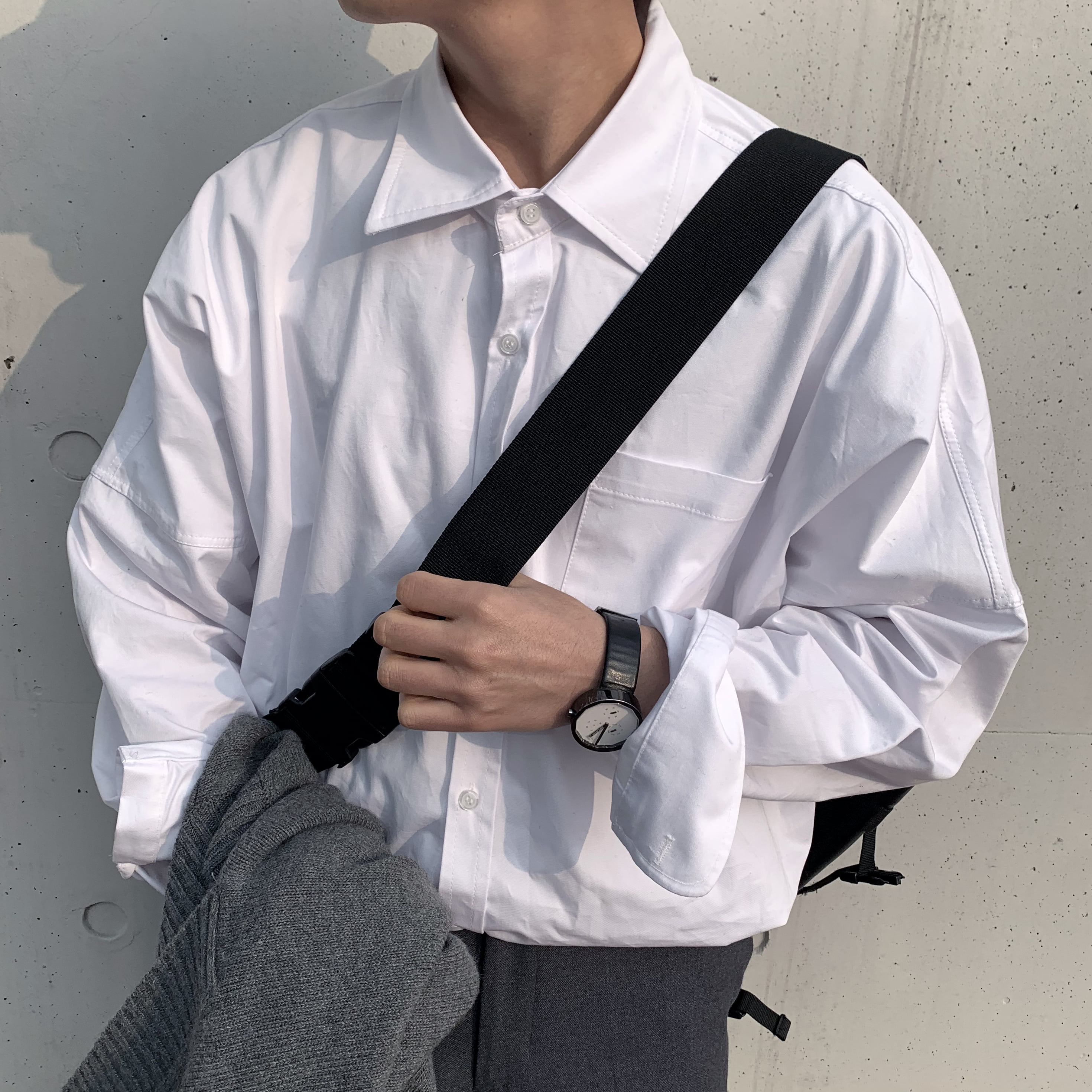 Over-fit NIF White Shirts