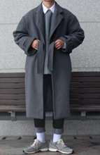 Over-fit HUKE Grey Coat(겨울)