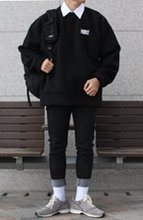 Over-fit HUKE Wool Black MTM (DEAN LINE)