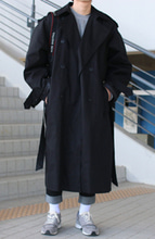 Over-fit PND BLACK Coat(봄,가을원단)