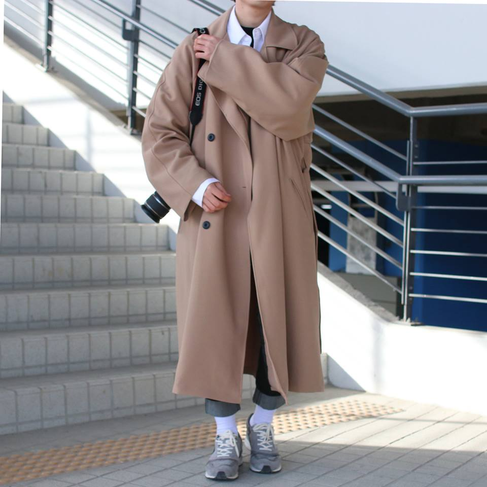 Over-fit PNT Beige Coat(봄,가을원단)