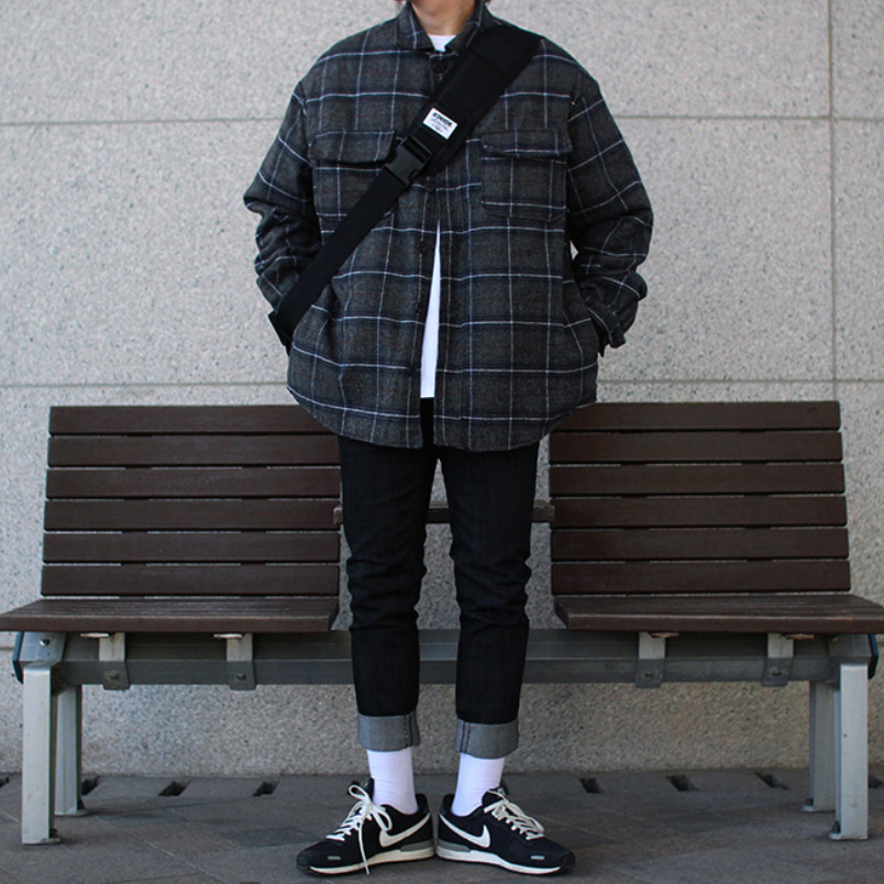 Over-fit NINE Shirts Jacket