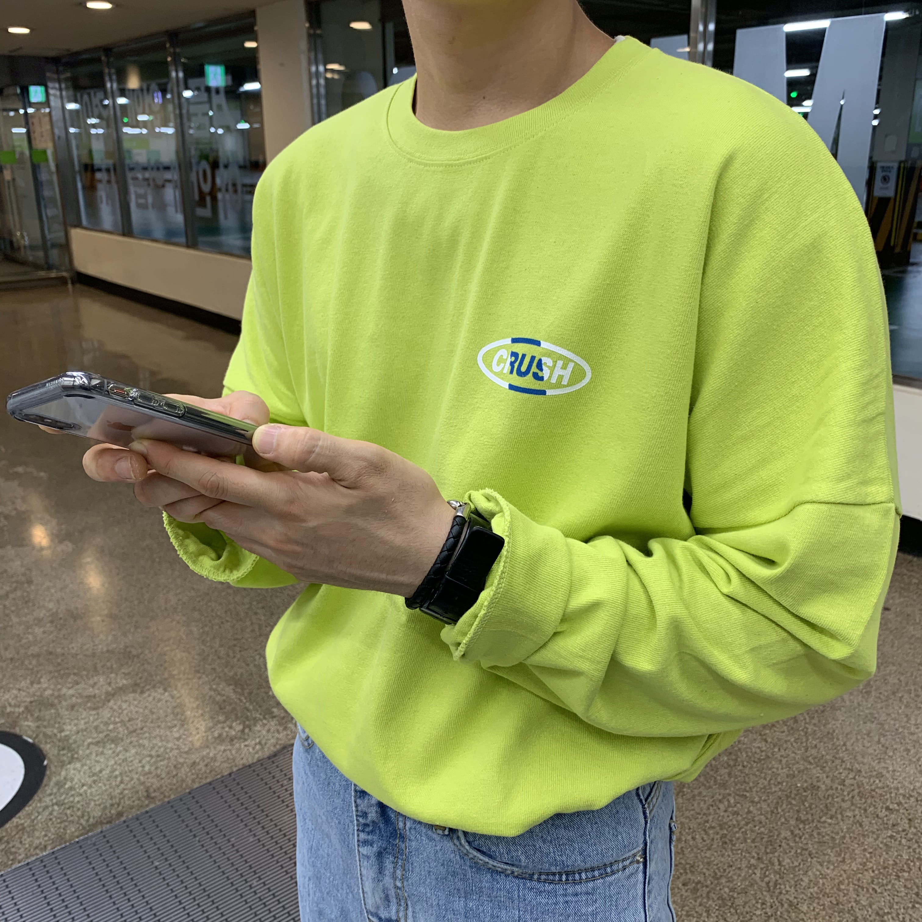 Over-fit RUSH Tee (라임)