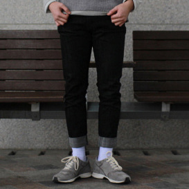Regular-fit Black Denim Jeans