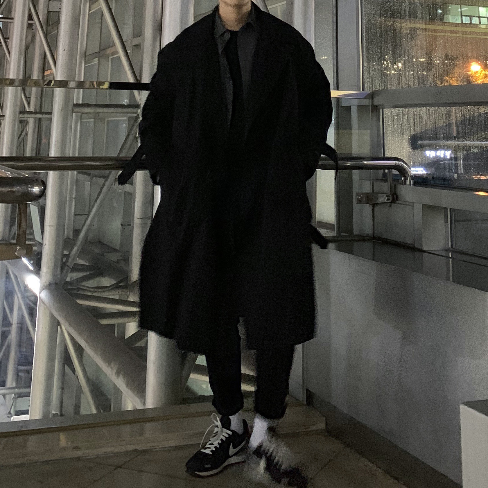 Over-fit NF Black Coat (봄.가을)
