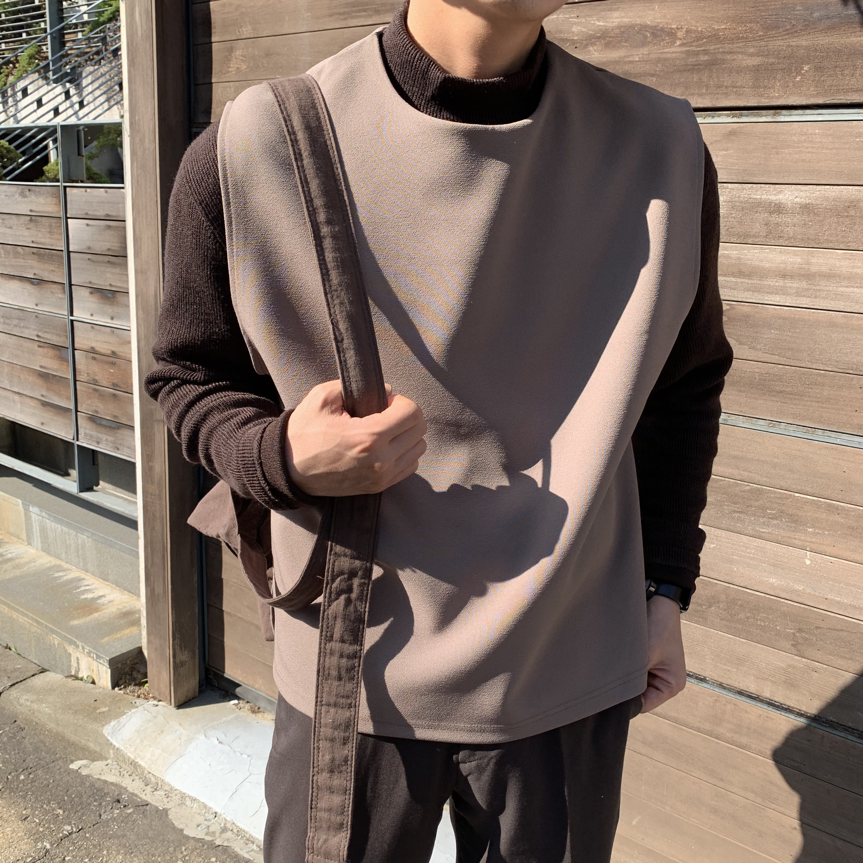 Over-fit SPENTS 조끼 (Beige)