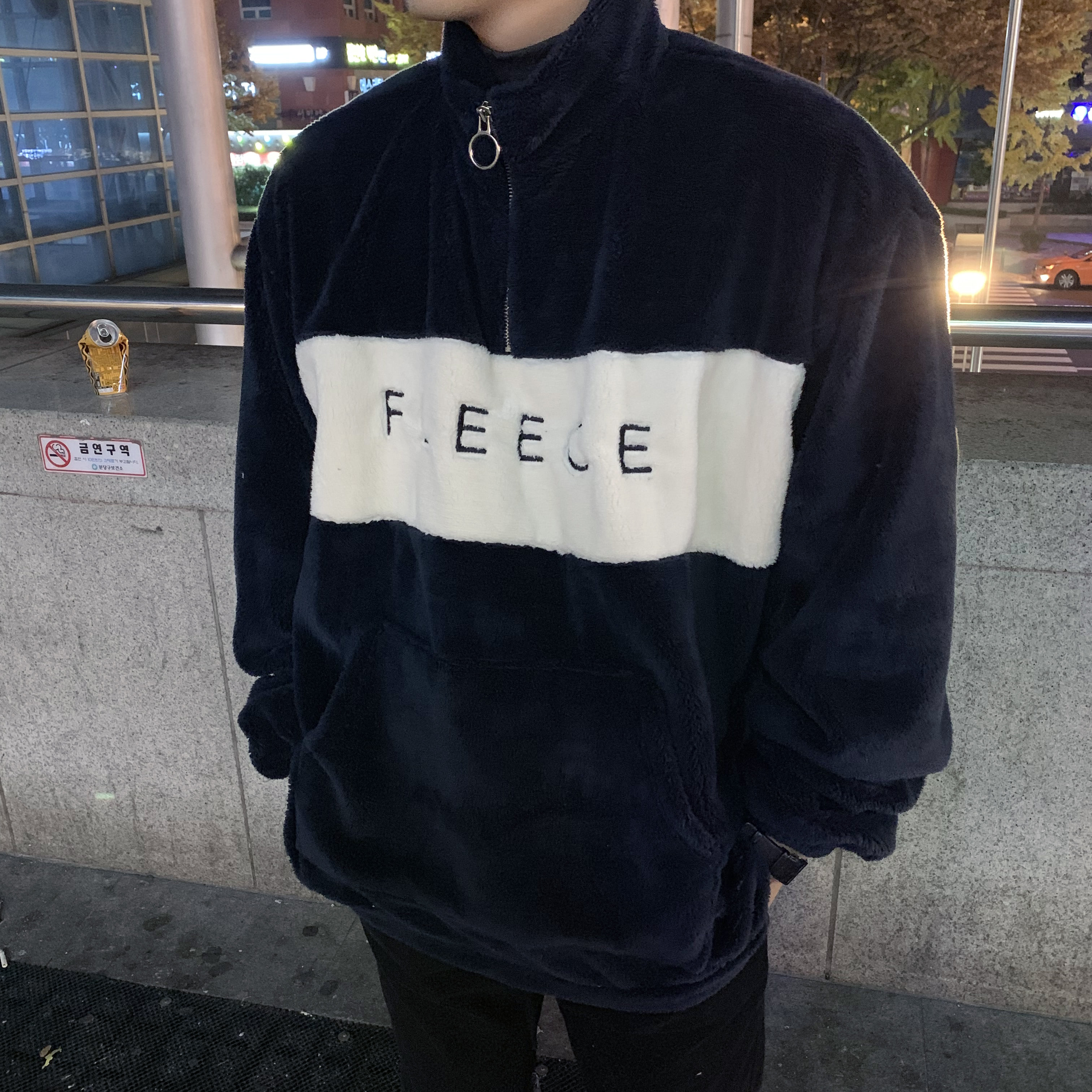 Over-fit Fleece Half neck