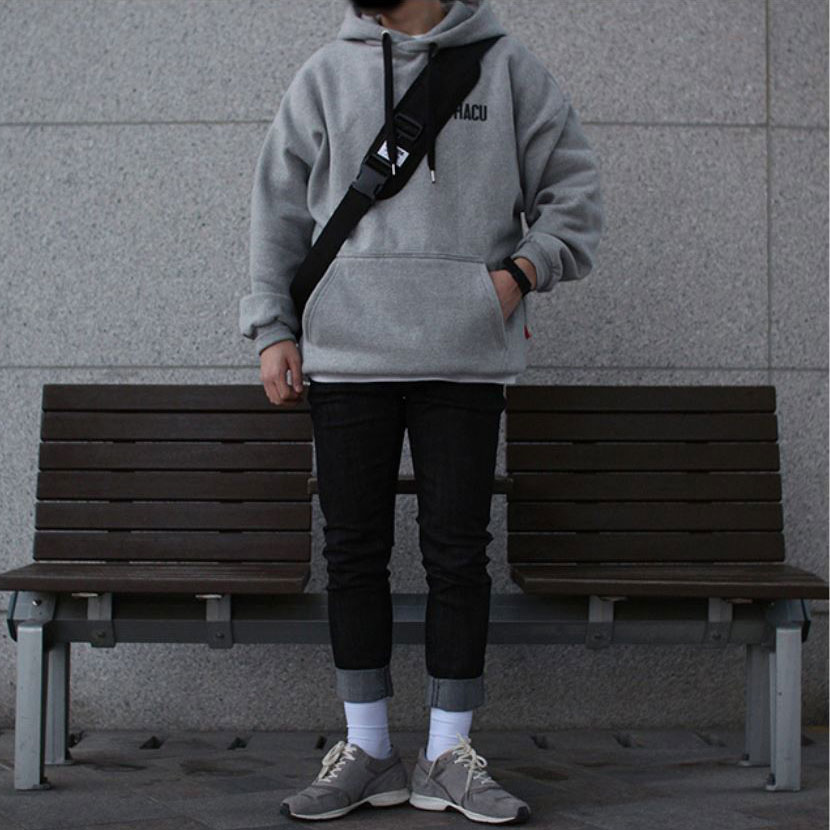Over-fit HACU Hood Tee(Grey)