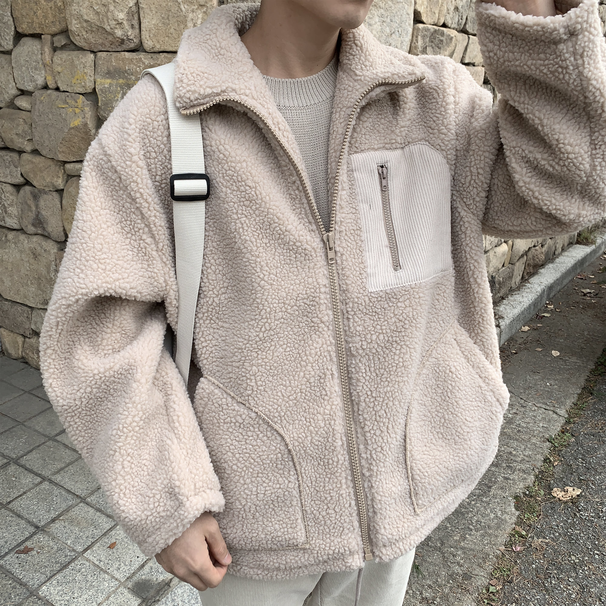 Over-fit NC Ivory Fleece Jacket
