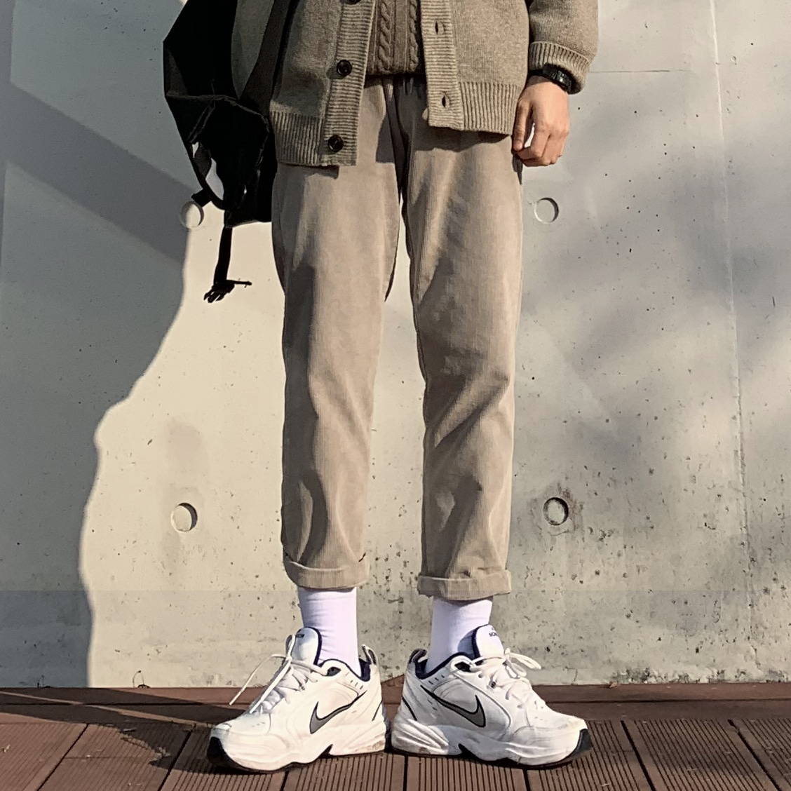 Drop-fit NMN Corduroy Pants(Kaki) (겨울 재진행)