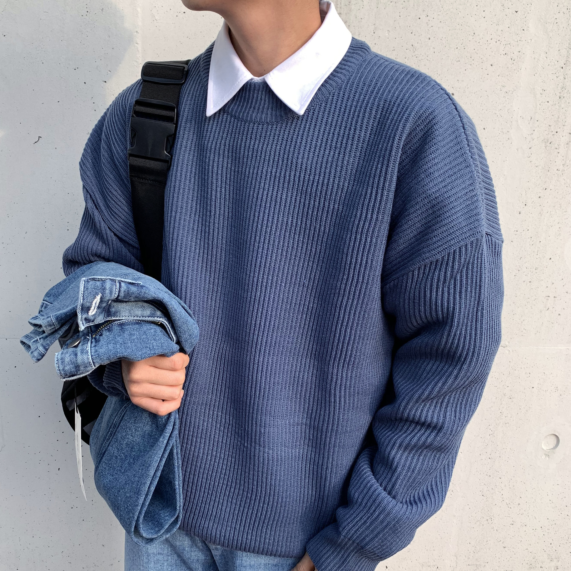 Over-fit NIP BLUE Knit