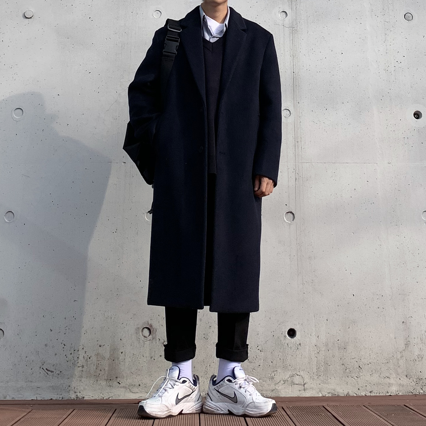 Over-fit Save Navy Coat