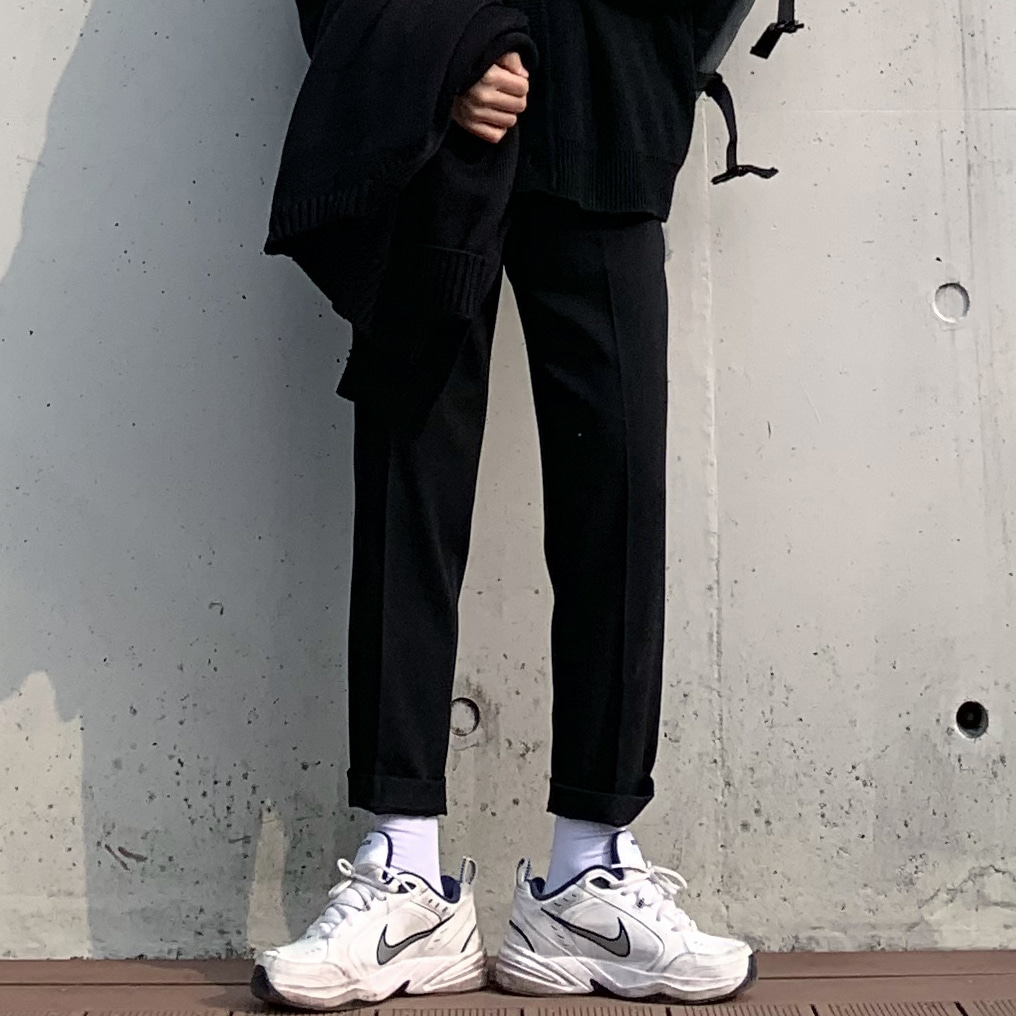 Drop-fit Bread Black Slacks