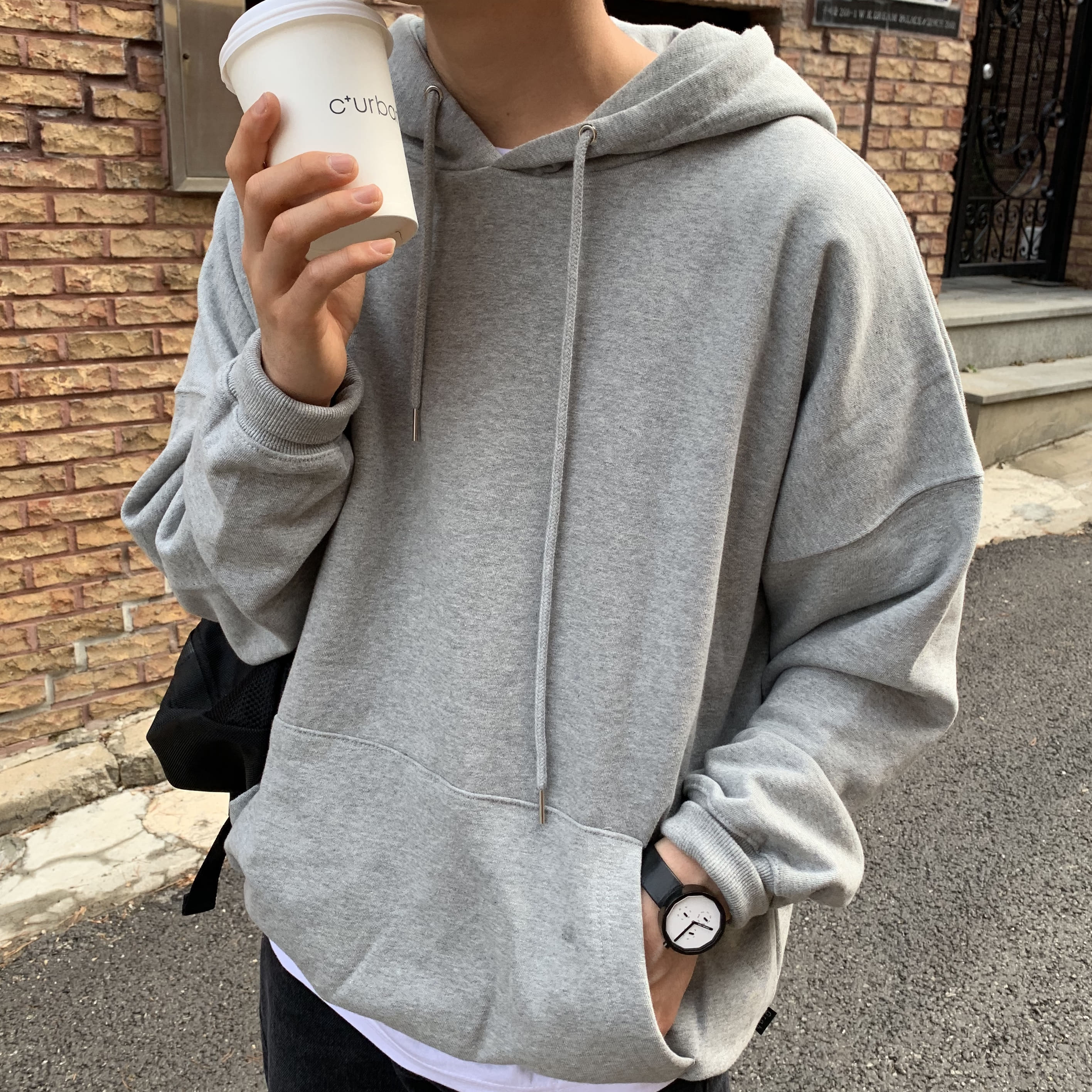 Over-fit NIF Grey Hood-Tee