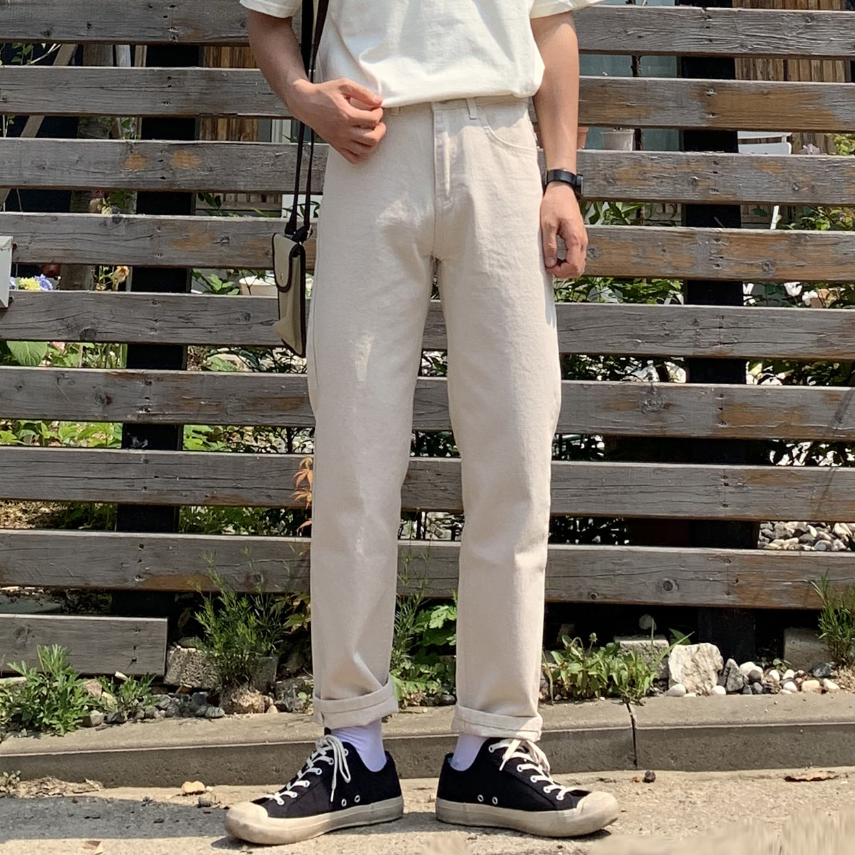 Drop-fit HINT Ivory Jeans
