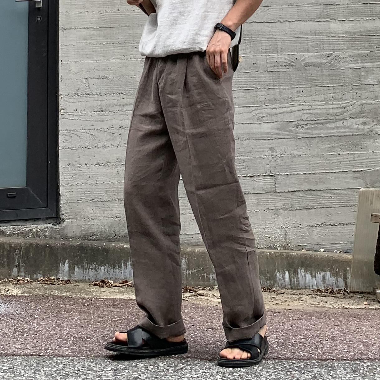 Avant-fit Daily Linen Brown Pants