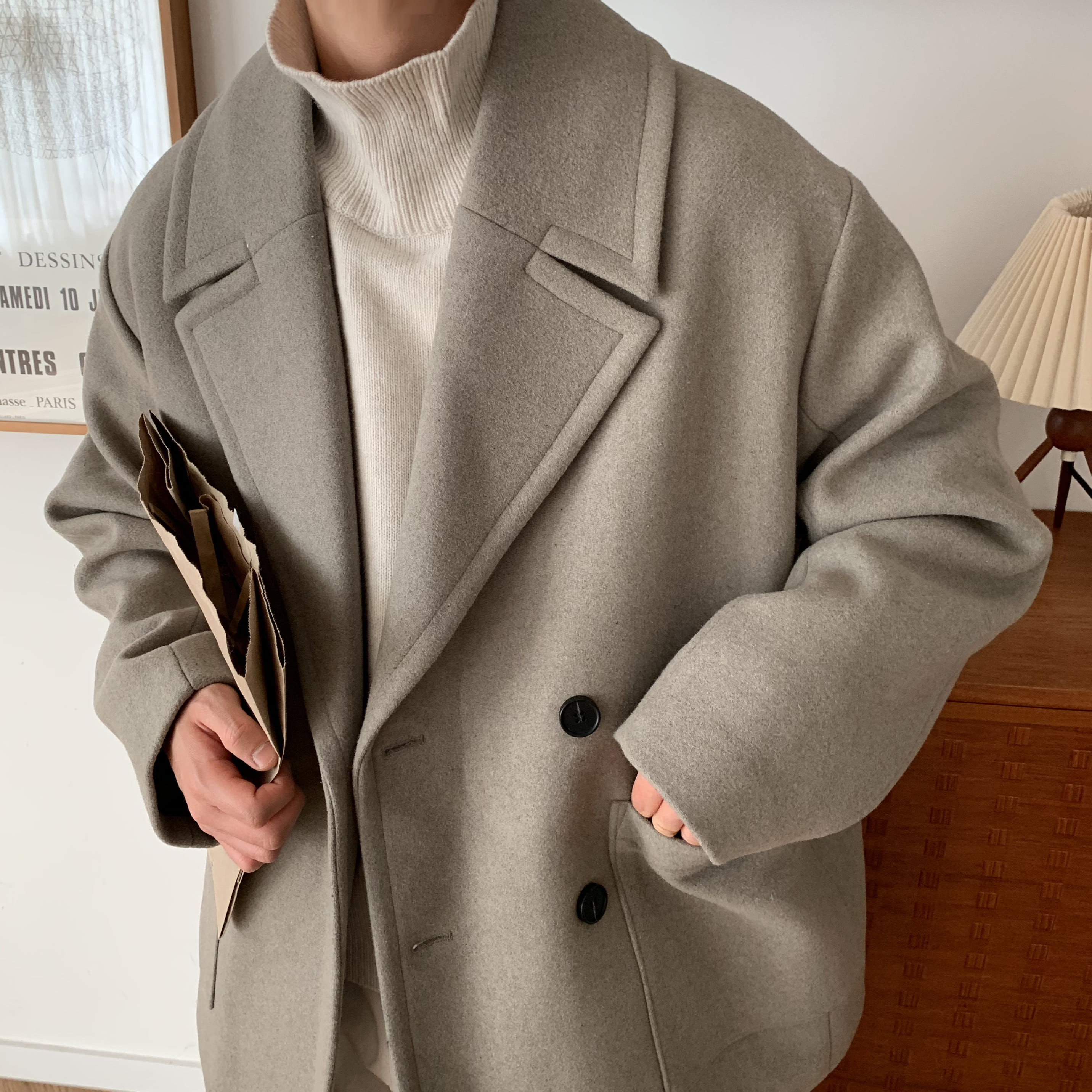 Over-fit HESS Moca Coat