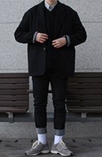 Over-fit BLACK Jacket