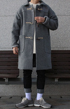 Over-fit CUBE Duffle Coat (Grey)