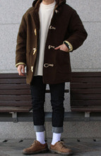 Over-fit CLUE Duffle coat (Brown)